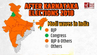 K'taka Polls election results : Modi waves in India ! 4 years, 26 states and Cong won only 2