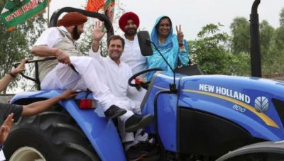 Rahul Gandhi drives tractor in Punjab as Amarinder Singh sits beside him, watch video here