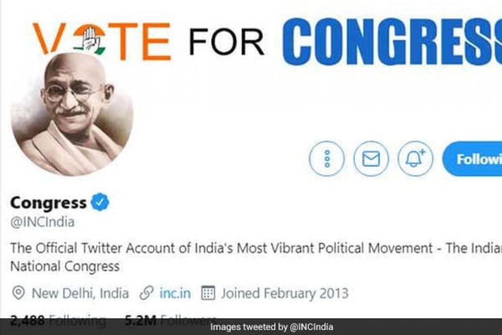 After Godse row, Cong switches to Mahatma Gandhi on FB & Twitter
