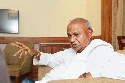 We are with Congress; I do not want to speak anything more: HD Deve Gowda