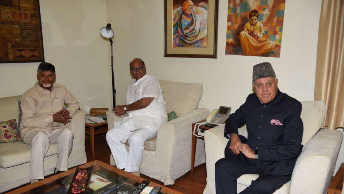 Chandrababu Naidu meets NCP chief Sharad Pawar
