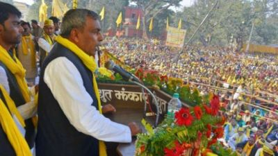 Hit BJP leaders 10 times with boots if they say we're in NDA: Om Prakash Rajbhar