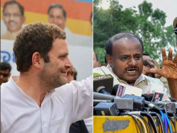 Meeting with Kumaraswamy first, Rahul Gandhi asks Karnataka Cong leaders to wait