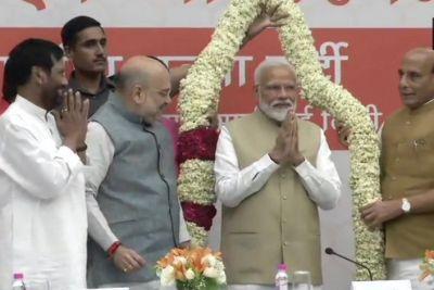 PM Narendra Modi thanks NDA allies for good work