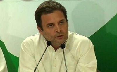 Rahul  Gandhi warns