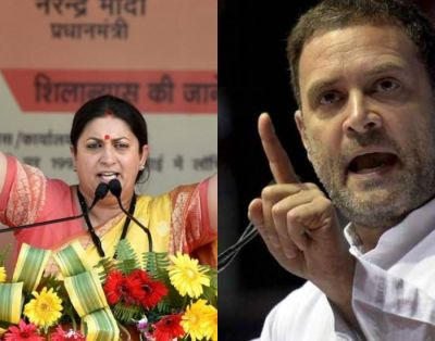 Smriti Irani leads at Amethi; Rahul Gandhi trails