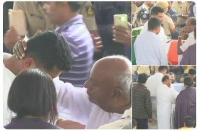 Ambareesh died at 66: Ex PM H D Deve Gowda, Karnataka CM Kumaraswamy and  Rajinikanth pay last respects