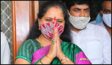 The newly elected Nizamabad MLC Kavitha has kept herself in the home quarantine
