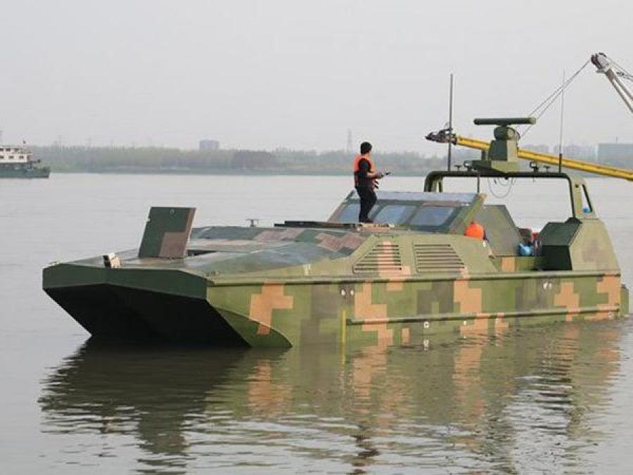 China develops world's first armed amphibious drone boat