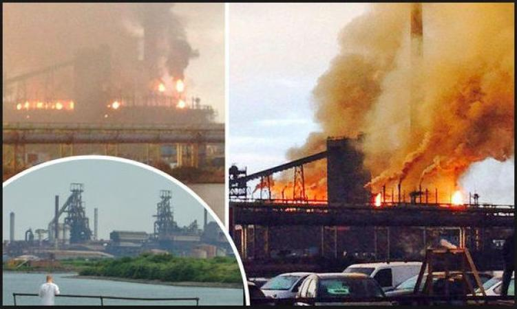 Three major explosions at Tata Steelworks; two casualties reported