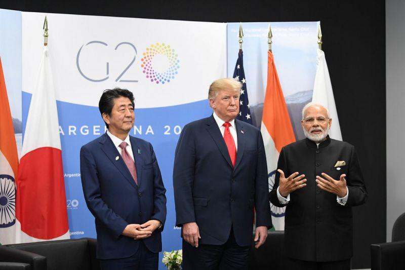 PM Modi, US President Trump & Japan PM Abe  meet in 1st ever 'JAI' trilateral talks