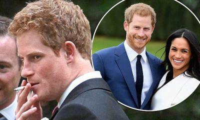 Prince Harry said no to smoking for Meghan Markle