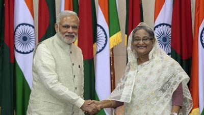 PM Modi  congratulates  Sheikh Hasina for winning elections, assures  nation's developmental walks