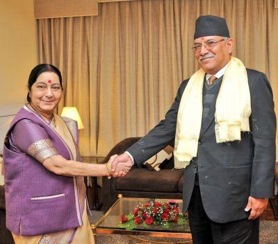 Nepal Visit: Sushma Swaraj met PM Pushpa Kamal Dahal