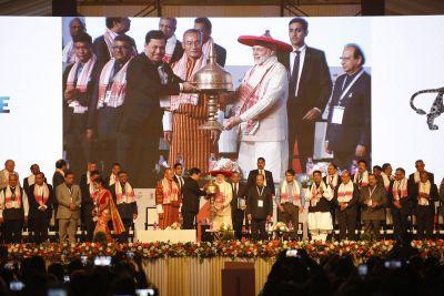 PM Modi, CM of Assam and Bhutan PM Flagg off Advantage Assam 2018