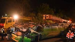 A bus crash at Taiwan killed 32 people