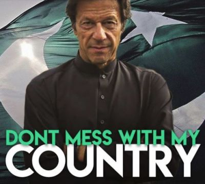 'Don't mess with my country' reads Pakistan PM Imran Khan's facebook post