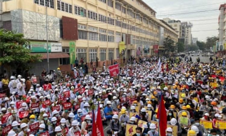 म्यांमार ने प्रदर्शनकारियों के लिए जारी की चेतावनी, कहा-  हुआ रैली का आयोजन तो हो सकती है मौतें