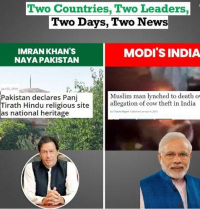 Two countries, two leaders, two news: Imran Khan's PTI attacks PM Modi over cow lynching