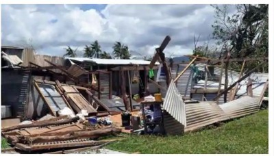 Cyclone-affected families in Fiji: India delivers relief materials