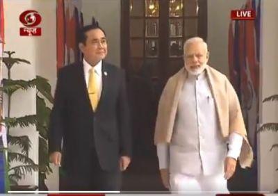 Delhi: PM Narendra Modi Thailand PM, Singapore PM  hold  Talks at  Hyderabad House