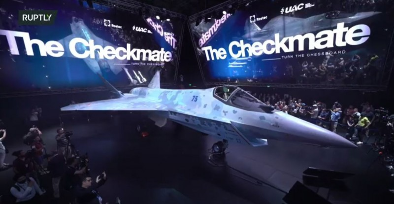रूस ने नए 'चेकमेट' लड़ाकू जेट का किया अनावरण