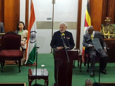 India is proud to be Africa's partner: Modi delivers his maiden address at the Ugandan Parliament.