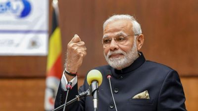 PM Modi targets China while giving a speech in Uganda
