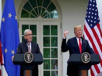 US, EU 'love each other': President Trump shares Pics with EU President