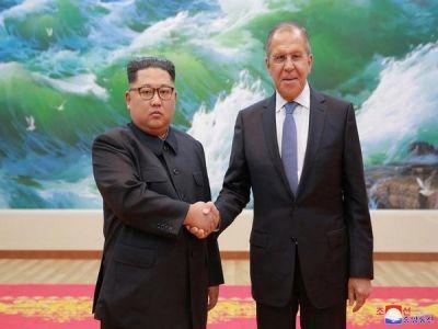 Russian Foreign Minister meetsNorth Koria Kim Jong-un in Pyongyang