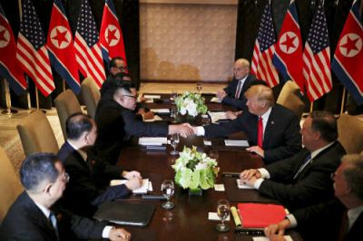 'Coming here was not an easy thing', says Kim when met Trump