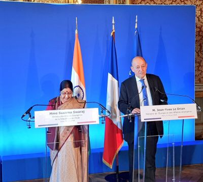 Mutual trust between India, France get deeper: Sushma Swaraj