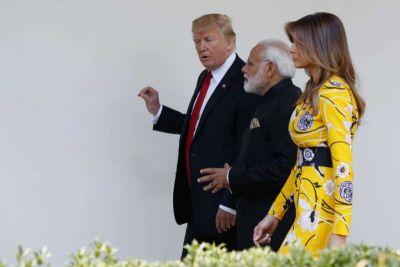 Prime Minister Narendra Modi met the U.S. President Donald Trump