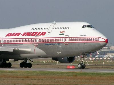Air India flight escorted by fighter jets