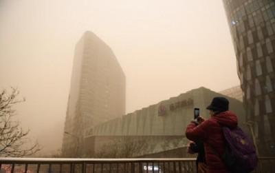 Beijing issues yellow alert for sandstorms