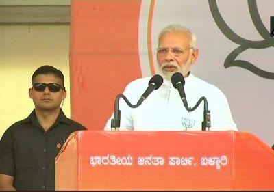 PM Modi in Bellary: Karnataka has a 'Sidda-Rupaiah Sarkar'
