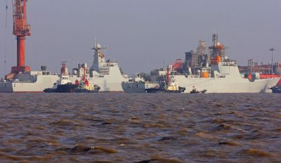 Big Boost to Chinese Navy: launch of 2 types of 052 D guided missile destroyers