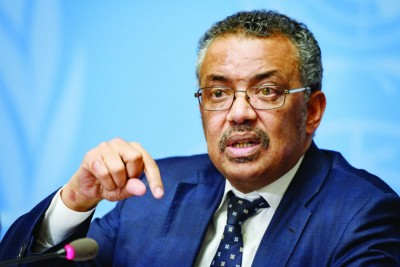 WHO Chief Tedros Adhanom Ghebreyesus said India's COVID situation 'hugely concerning'