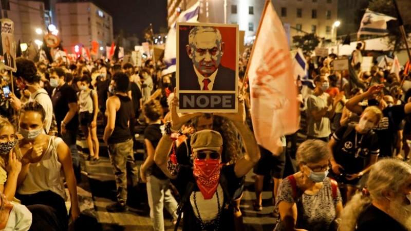 प्रदर्शनकारियों ने इजरायल के प्रधानमंत्री के आवास के बाहर शुरू किया विरोध प्रदर्शन