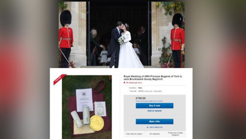 Eugenie and Jack Brooksbank wedding: Guests sell Royal gift bags online upto £1,000