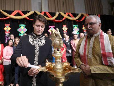 Canada PM Justin Trudeau celebrates Diwali with Indian community