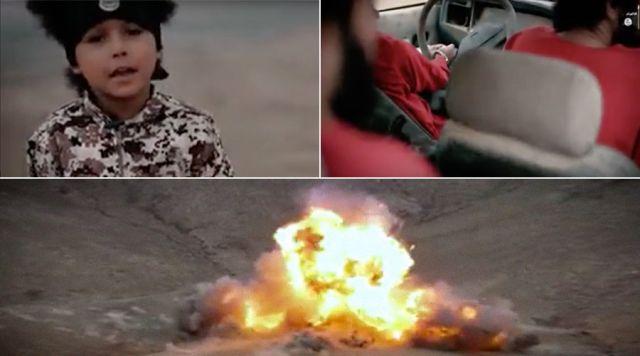 ISIS के साल के लड़ाके ने कार में ब्लास्ट कर तीन को उड़ाया, देखिये खौफनाक वीडियो