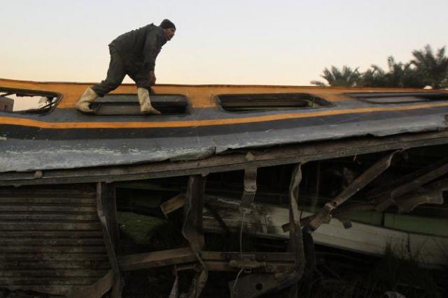 मिस्त्र में पटरी से उतरी ट्रेन, 60 हुए घायल