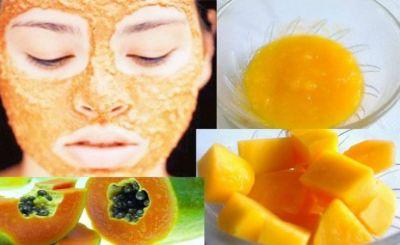 Use Papaya face mask to enhance your face glow