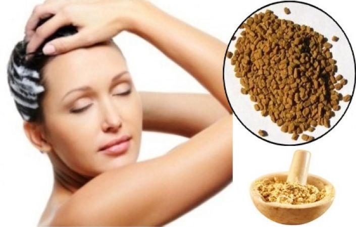 Skin tone accumulates with Fenugreek grains