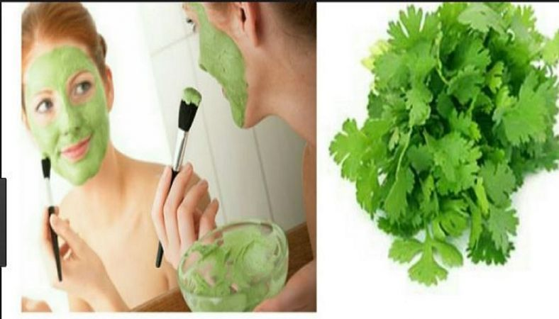 To remove skin problems, apply face packs of coriander leaves