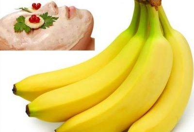 Use the face mask of bananas and rose water to get beautiful skin