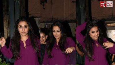 Vidya Balan dons ethnic wear for a pre-valentine's day outing