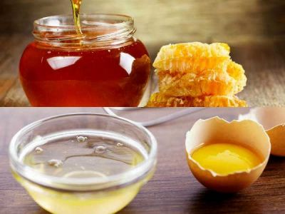 Beauty enhances with the egg and honey