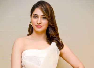 Have a look! Tamannaah Bhatia rocks Victorian fashion in her 'romantic red attire